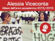 Alessia Viceconte allieva dell'anno 2015-2016